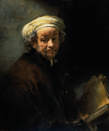 rembrandt, self-portrait as the apostle paul