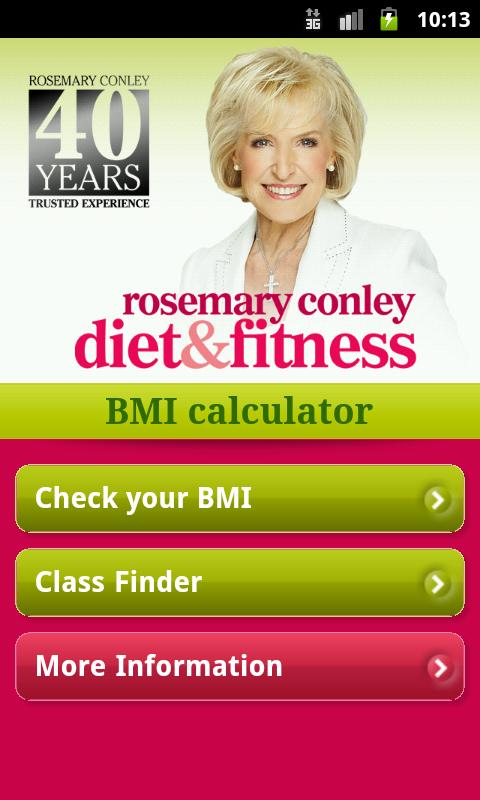Rosemary Conley's BMI App- screenshot