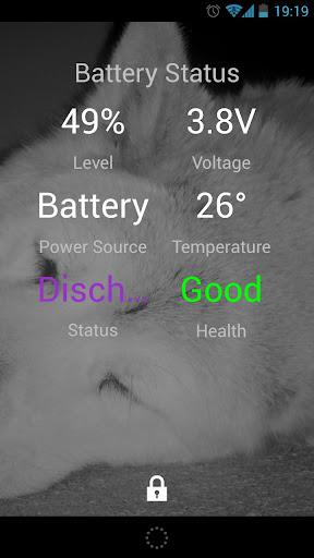 Battery Status Lock Screen