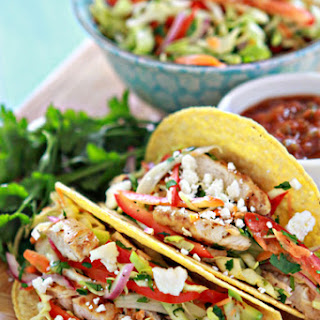Lemon Pepper Tacos with Cilantro-Lime Slaw