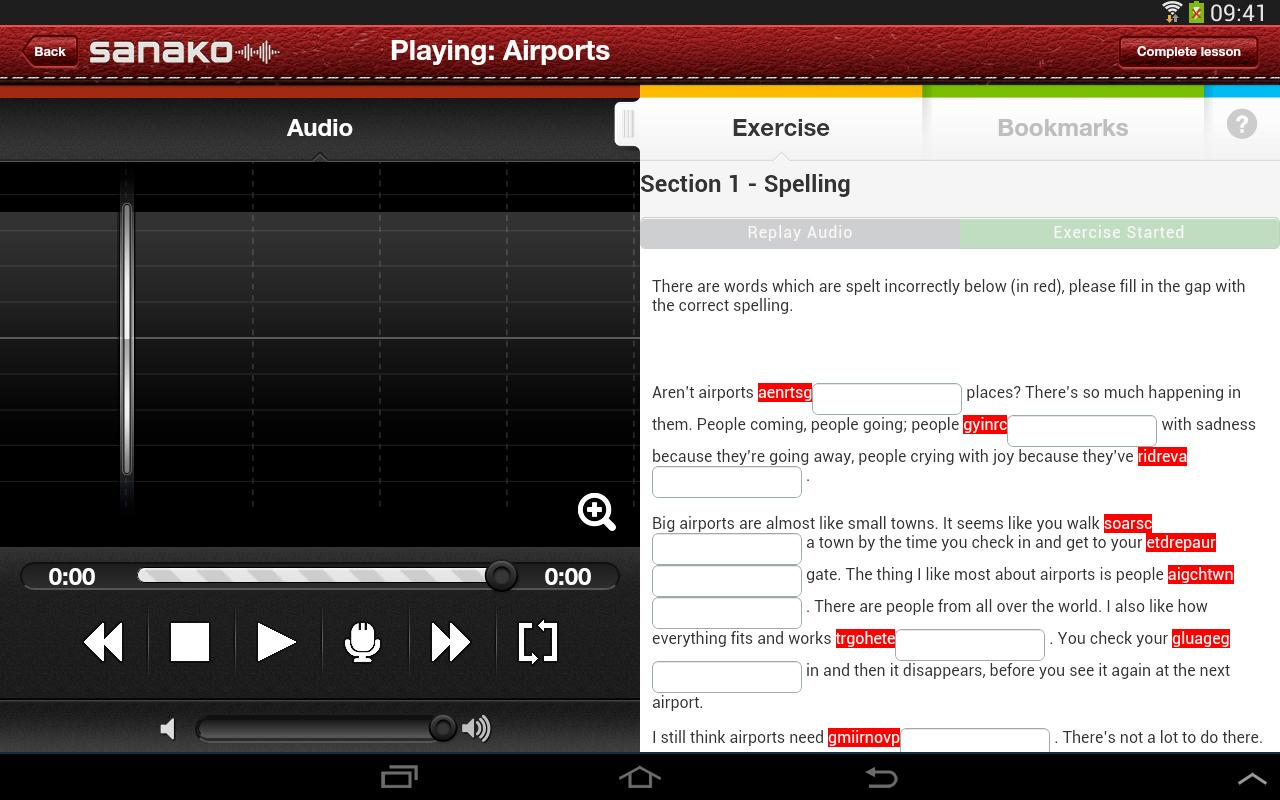 Sanako Solo for Android- screenshot