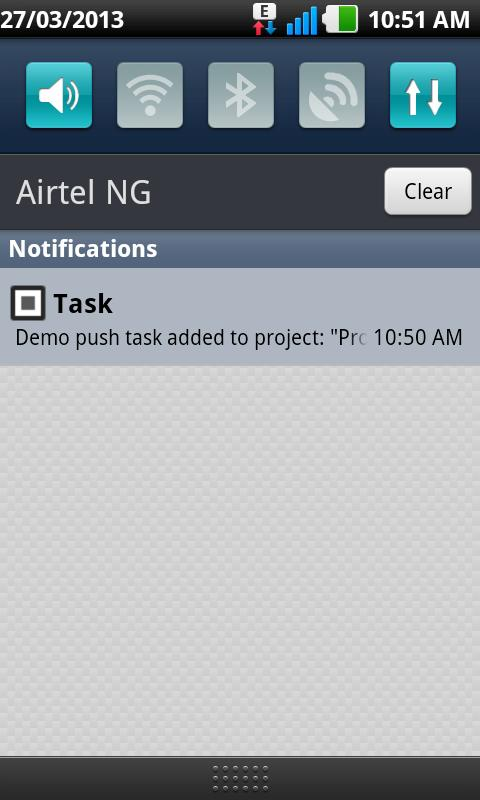 Prowork Notifications- screenshot