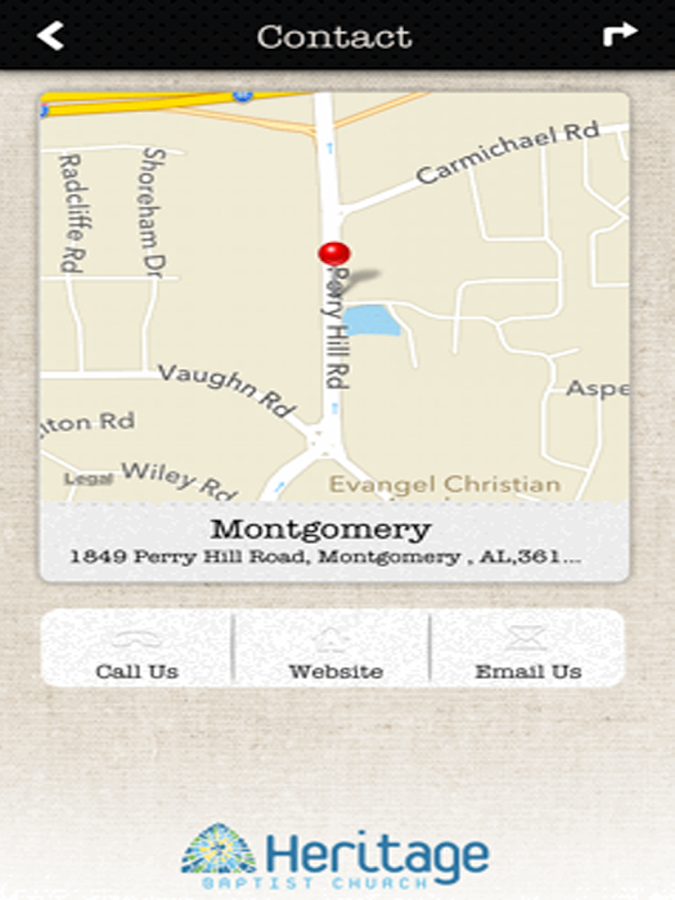 Heritage Baptist Church - screenshot