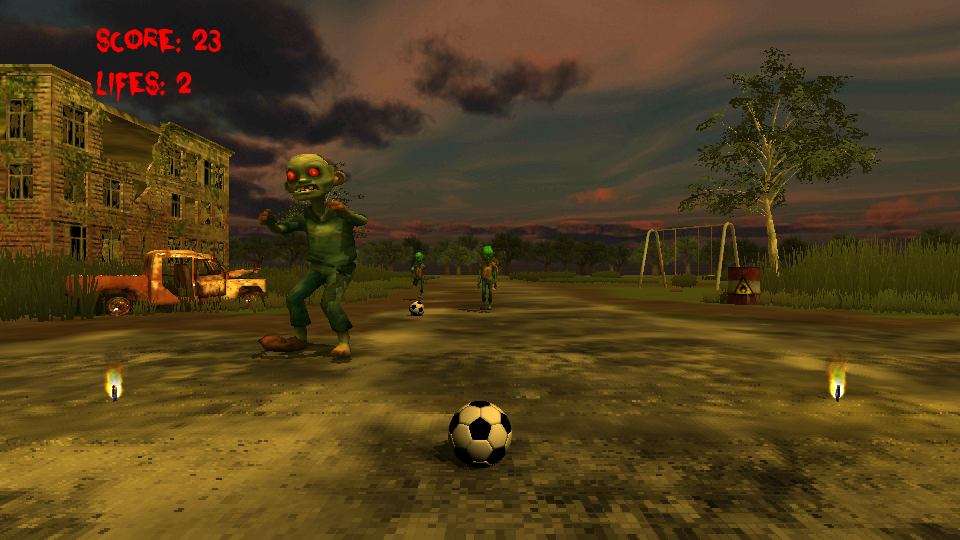 Flick Football Zombie- screenshot