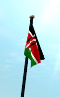 Screenshot of Kenya Flag 3D Free Wallpaper