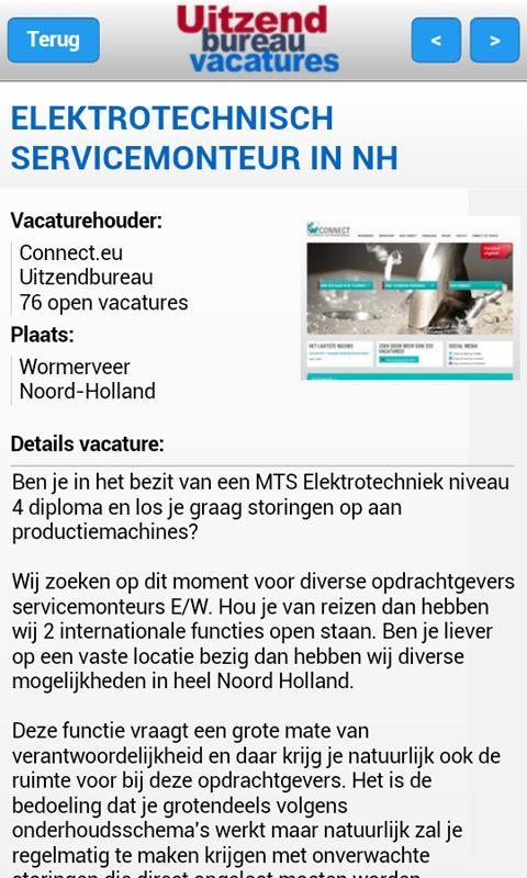 Uitzendbureau-vacatures.nl - screenshot
