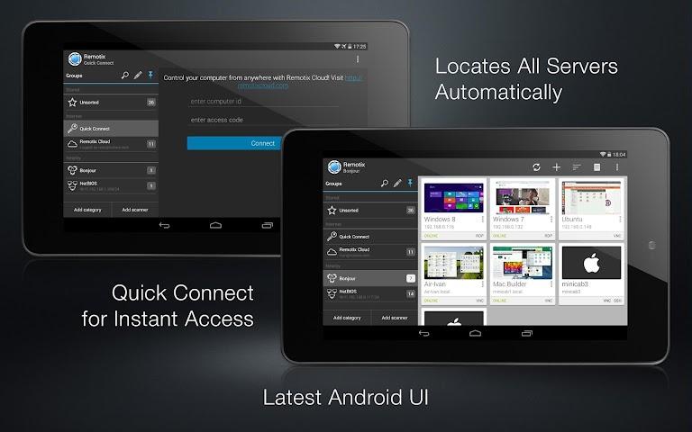 android Remotix VNC RDP Remote Desktop Screenshot 1