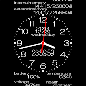 Analog clock wallpaper