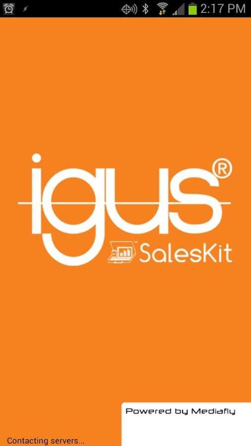 igus SalesKit from Mediafly - screenshot