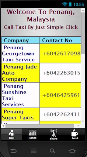 Penang Call Taxi