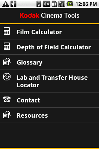 Kodak Cinema Tools - screenshot
