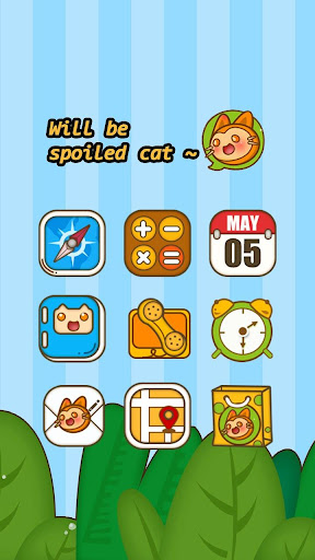 Sly Cat Hola Launcher Theme