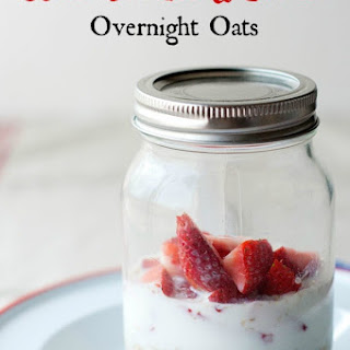 Strawberries and Cream Overnight Oats.