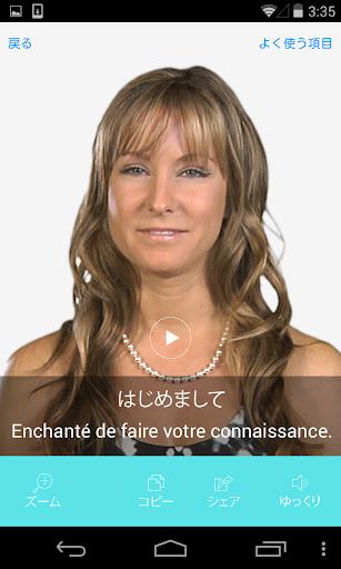 フランス語ビデオ辞書 - 翻訳機能・学習機能・音声機能