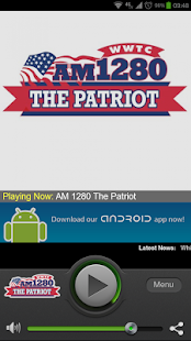 AM 1280 The Patriot WWTC - screenshot thumbnail