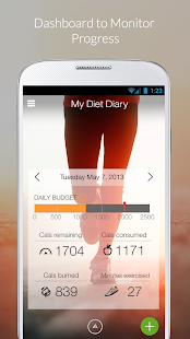 My Diet Diary Calorie Counter Fitness app screenshot for Android