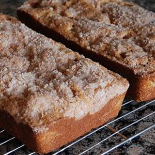 Streusel Rhubarb Bread.