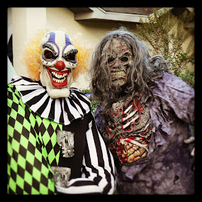 Mother & Daugther by Kimmarie Martinez - Public Holidays Halloween ( scary, creepy, clown, zombie, creepy clown, halloween,  )