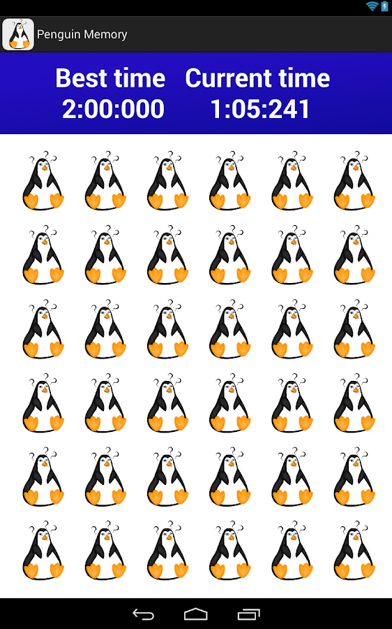 Penguin Memory- screenshot
