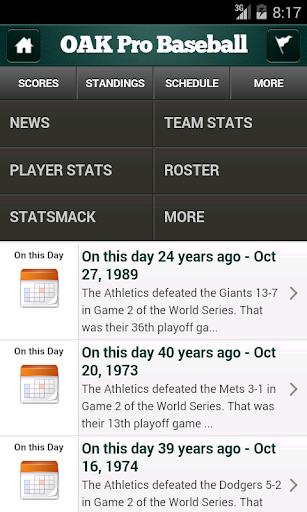 【免費運動App】Oakland Pro Baseball-APP點子