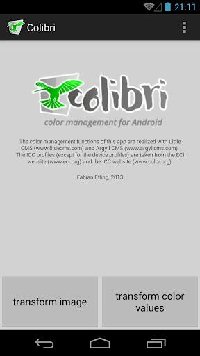 Colibri - Color Management