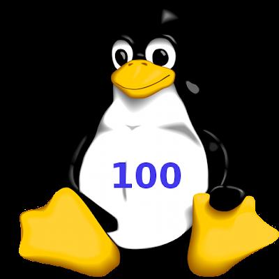 Linux Penguin Logo Battery