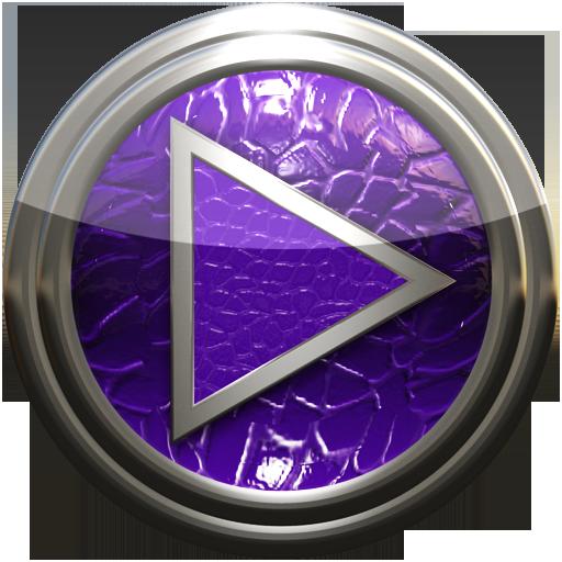 Poweramp skin purple lizard
