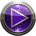 Poweramp skin purple lizard icon