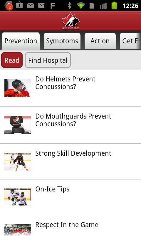 Concussion Awareness - screenshot
