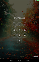 Screenshot of Falling Leaves Lock Screen