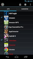 Screenshot of App Quarantine ROOT/FREEZE