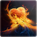 Burning Love background logo