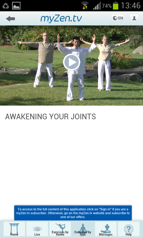 myZen.tv - Well-being partner- screenshot