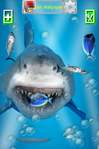 Angry Shark Pet Cracks Screen - screenshot