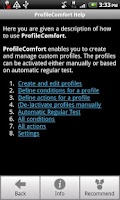 Screenshot of ProfileComfort