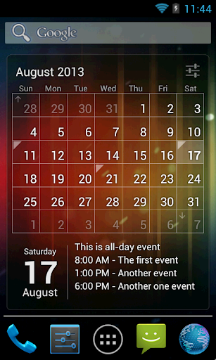 download Calendar Widget (key) 1.0 apk free - Download - 4shared - Tricia Hanson