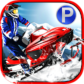 Snowmobile Parking Racing 2017