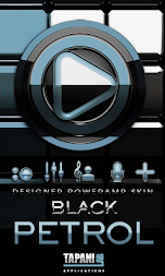 Poweramp skin Black Petrol APK screenshot thumbnail 1