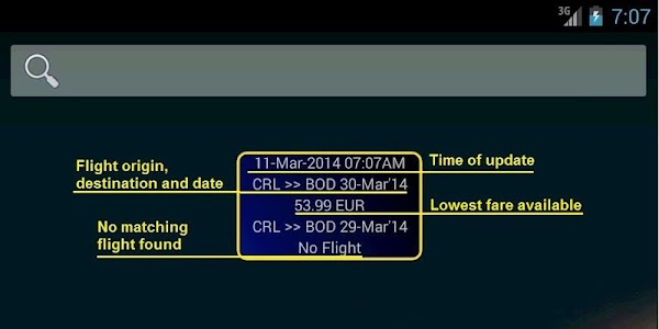 Ryan Flight Fare Watch screenshot 3