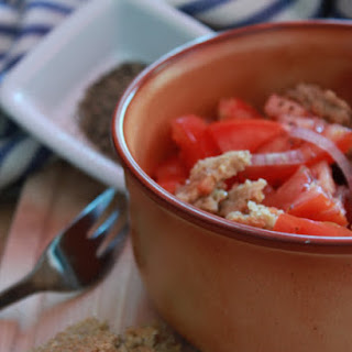 Frisella with Tomato and Onion.