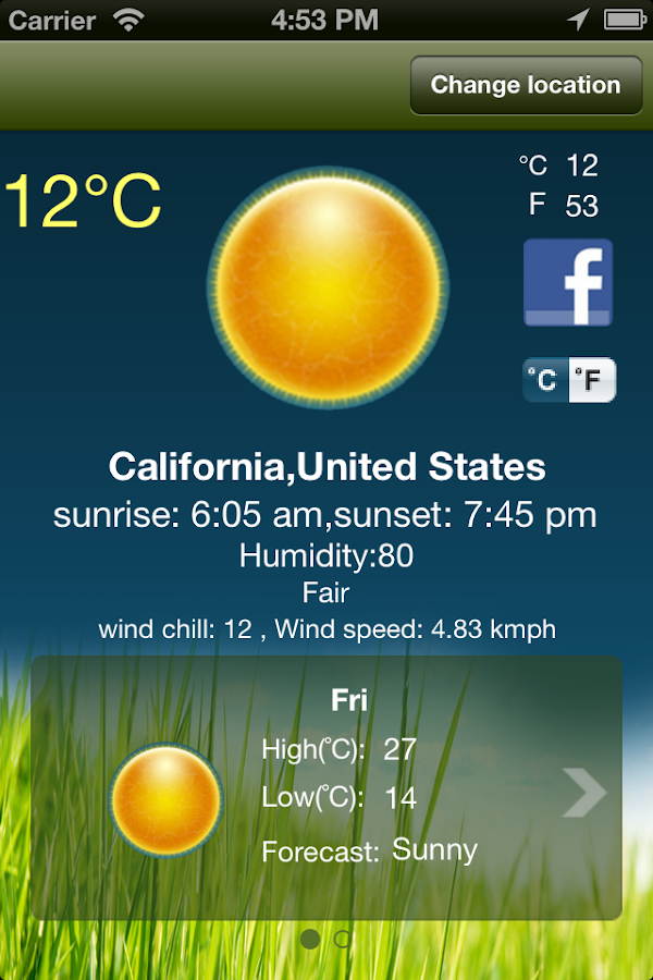 Live Weather+- screenshot