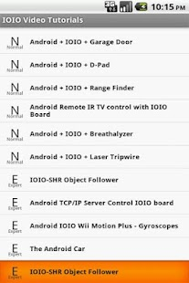 IOIO Android Tutorials - screenshot thumbnail