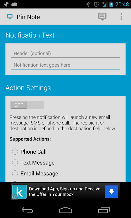 Pin Note: Custom Notifications- screenshot