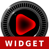 Poweramp Widget NEON RED