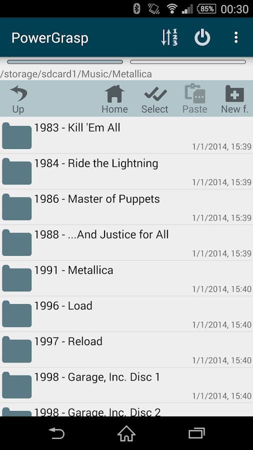 PowerGrasp file manager - screenshot