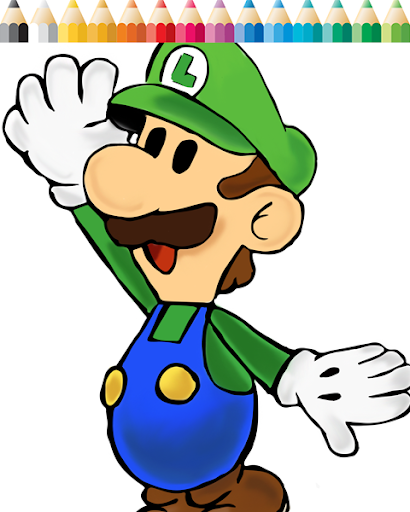 Fun Luigi Coloring