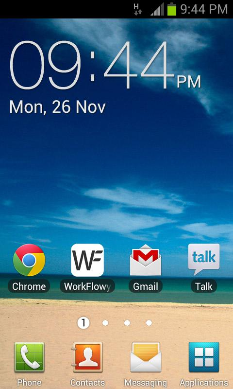 Galaxy Clock Widget - screenshot
