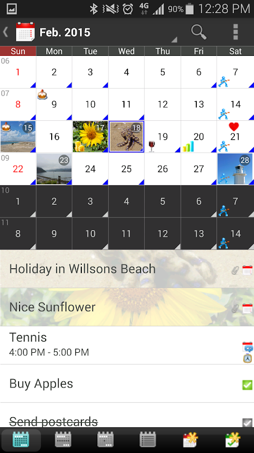 vcCalendar- screenshot