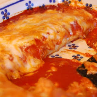 Bean and Cheese Enchiladas.