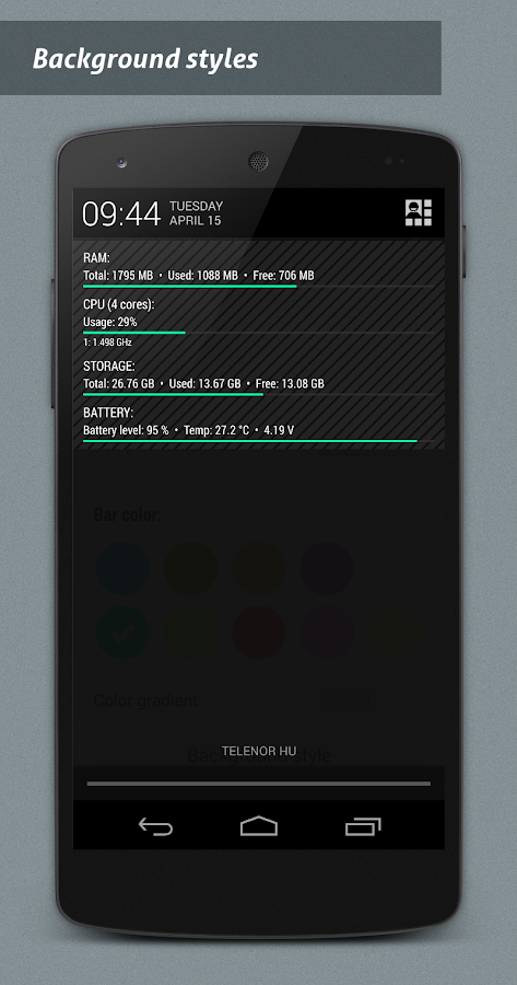 NotiSysinfo Pro- screenshot